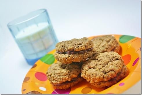 Choc oatmeal cookie