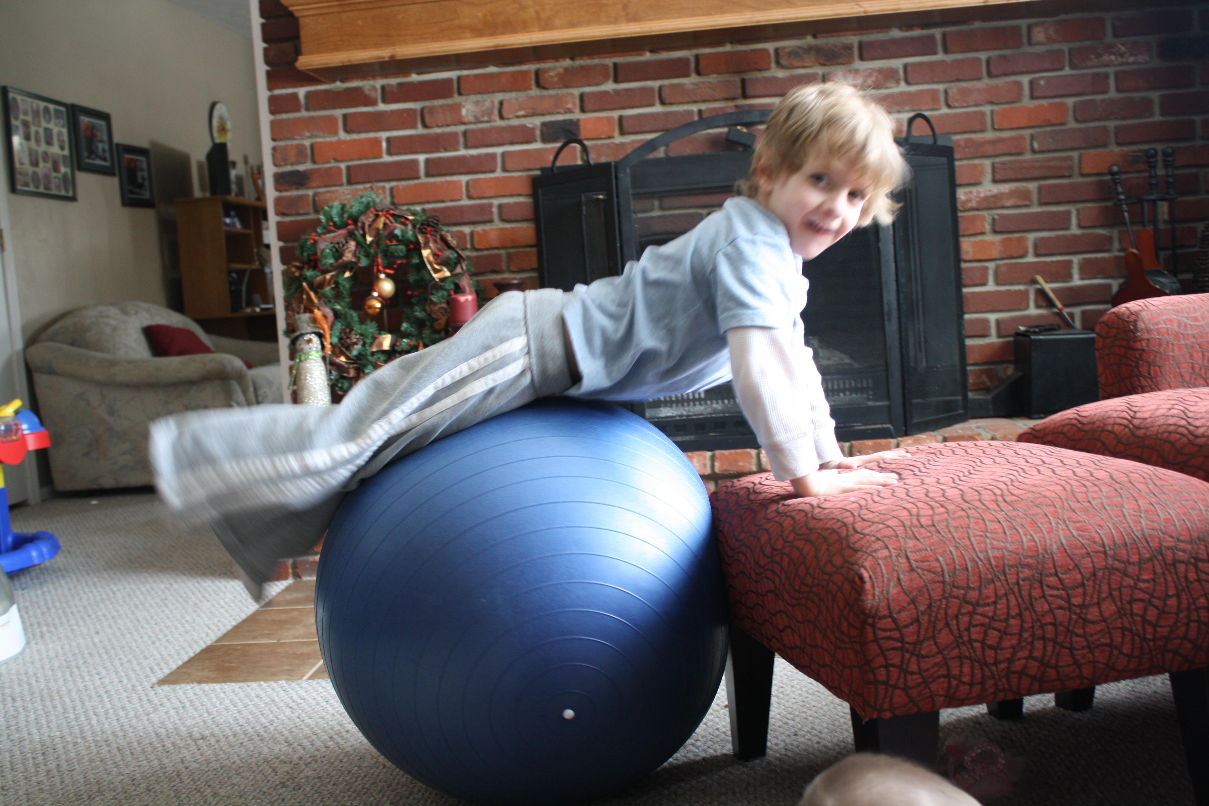 Big Blue Ball 4 Little Fergusons