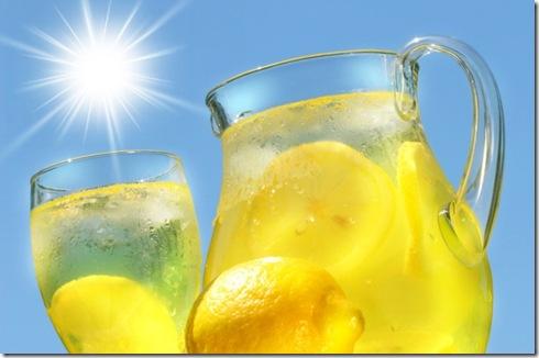 Iced-cold-lemonade