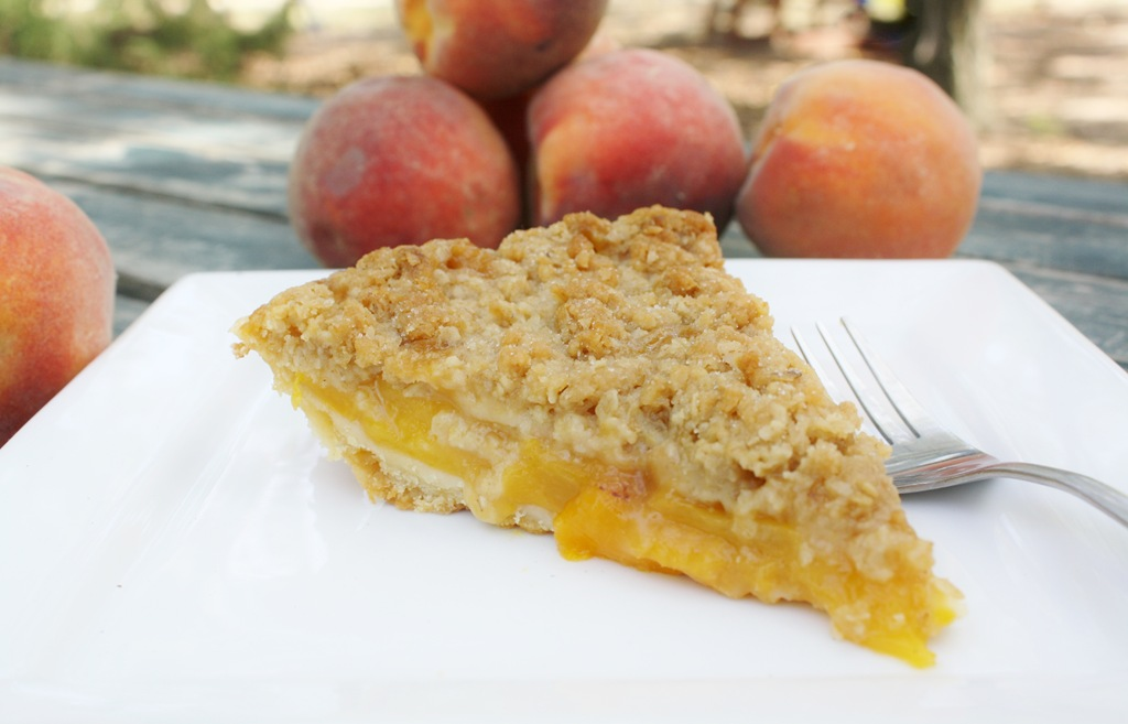 So Sweet Post 2: Peach Crumble Pie with Easy Push Crust