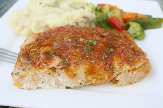 Orange Cilantro Glazed Salmon