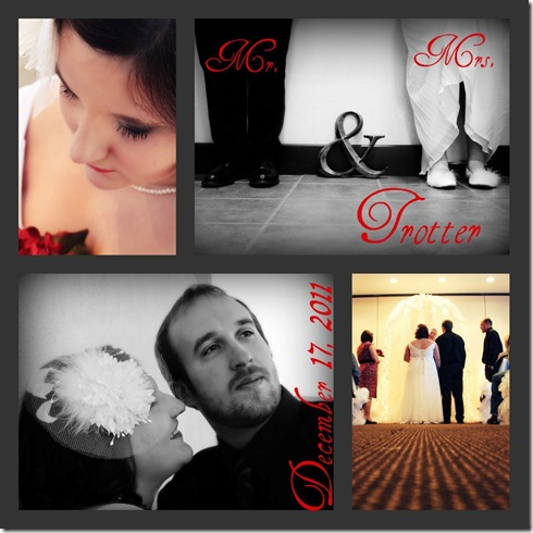 Wedding collage with text