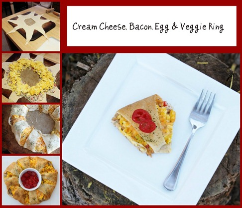 Cream Cheese Bacon Egg & Veggie Ring