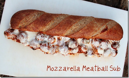 Mozzarella Meatball Sub text