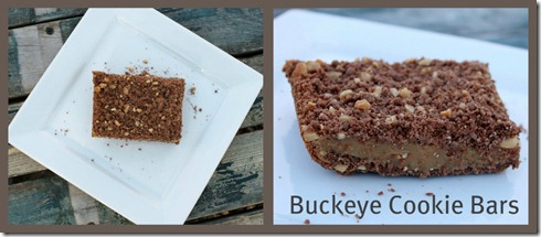 Buckeye Cookie Bars collage