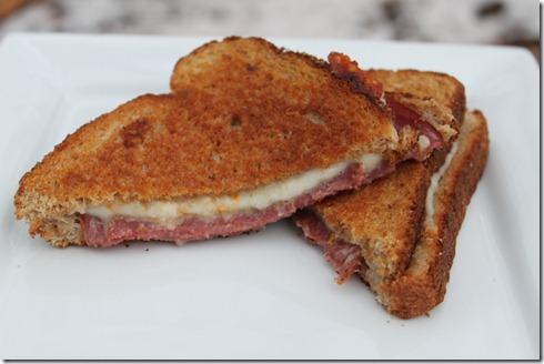 Salami & Muenster sandwiches