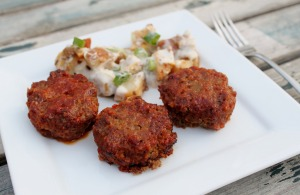 Tangy Mini Meatloaf with Savory Sauce