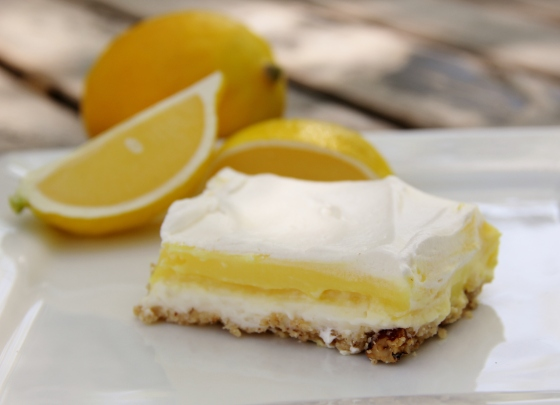 Lemon pudding dessert