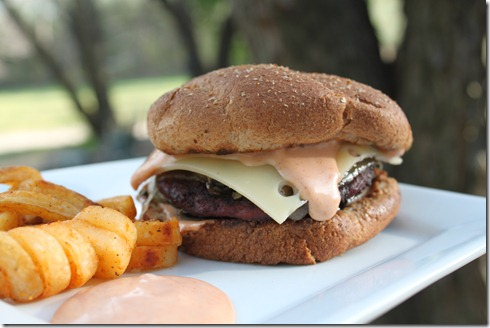 Mushroom Swiss Burger (3)