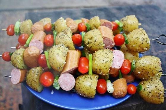 Brats & Tots Kebabs