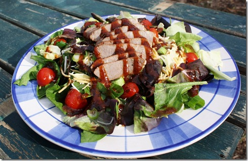 Grilled Steak Salad with Homemade dressing