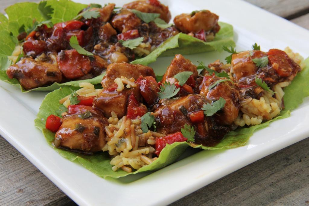 Teriyaki Chicken Lettuce Wraps | 4 little Fergusons
