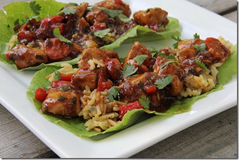 Teriyaki Chicken Lettuce Wraps (1)