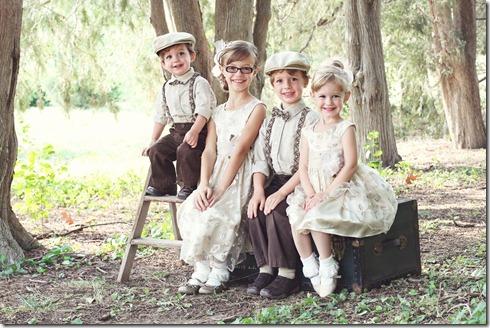 2) 4 little Fergusons