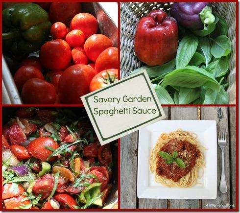 Garden Spaghetti Sauce text