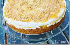 Peaches & Cream Torte