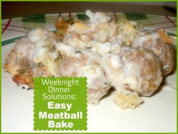 Easy Meatball Bake
