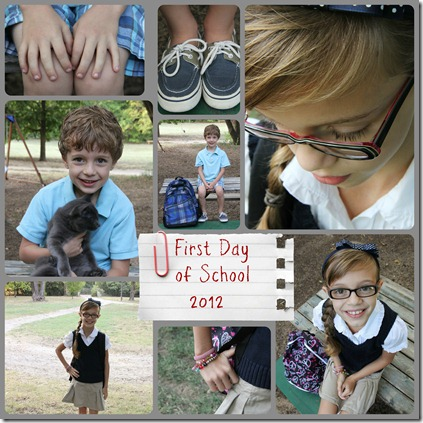 First Day of School collage text