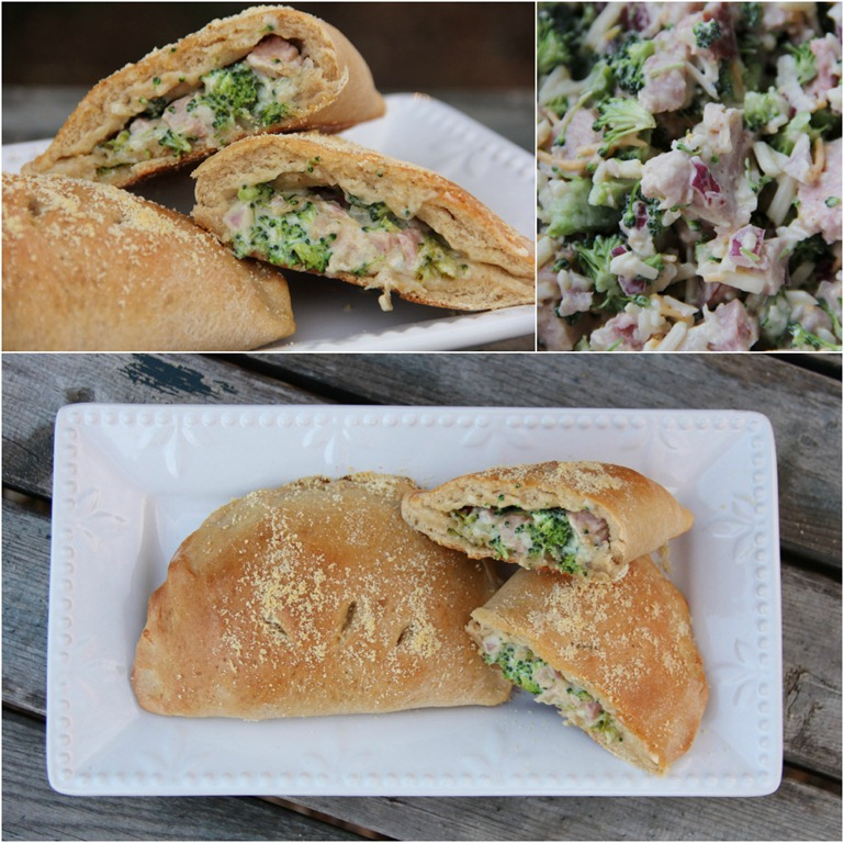 Broccoli, Ham & Swiss Cheese Calzones