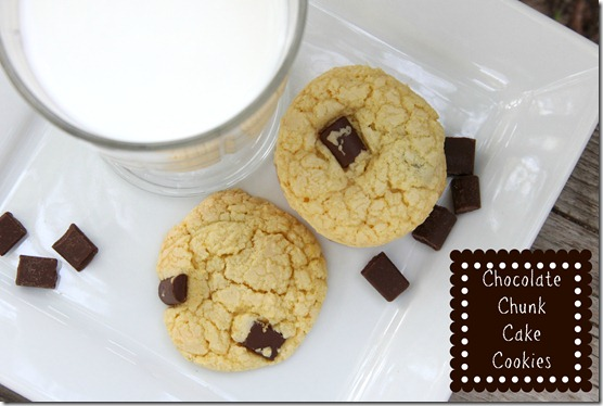 Chocolate Chunk Cake Cookies text