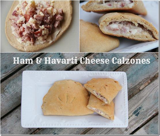 Havarti Ham & Cheese Calzones collage txt