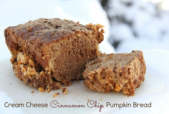 Cream Cheese Cinnamon Chip Pumpkin Bread