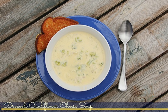 Broccoli Cauliflower Cheese Soup