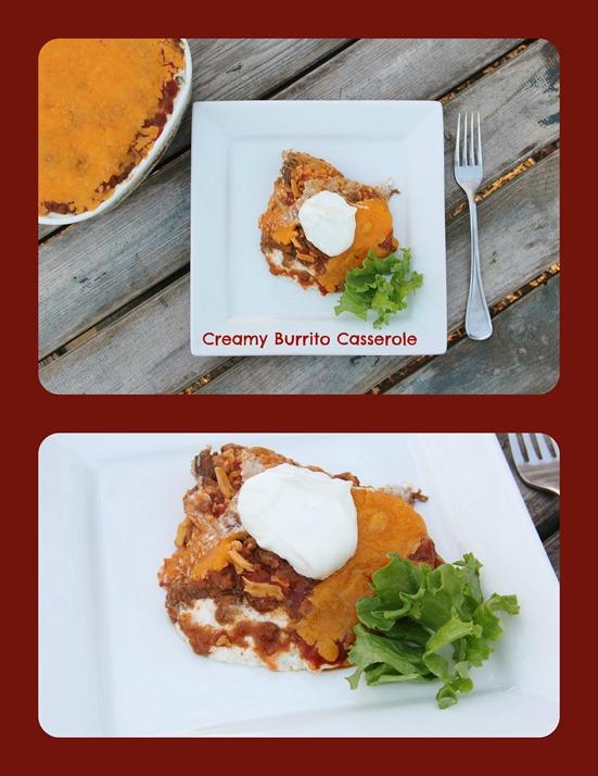 Creamy Burrito Casserole Collage