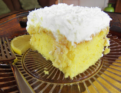 Lemon Coconut Poke Cake
