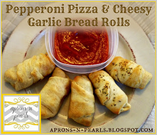 Pepperoni Pizza and Cheesy Garlic Bread Rolls