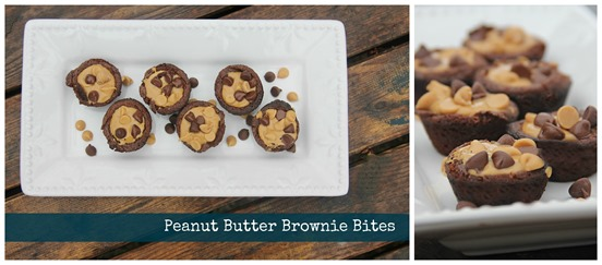 Peanut Butter Brownie Bites collage