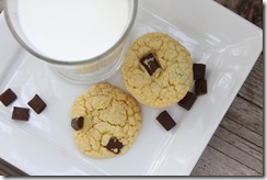 Chocolate Chunk Cake Cookies no text