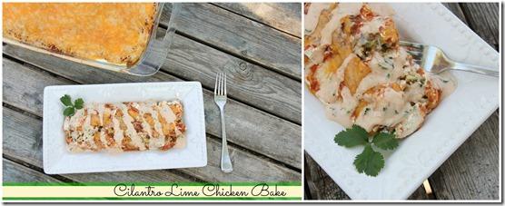 Cilantro Lime Chicken Bake Collage