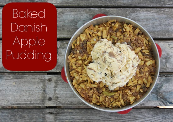 Baked Danish Apple Pudding