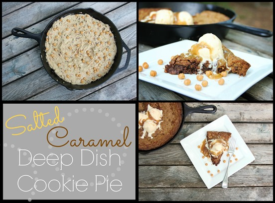 Salted Caramel Deep Dish Cookie Pie pic