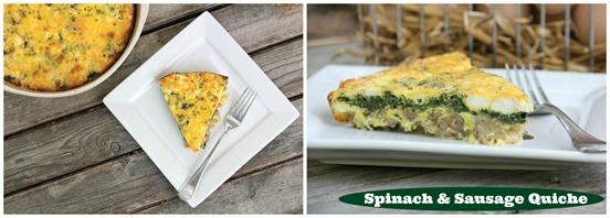 Sausage & Spinach Quiche