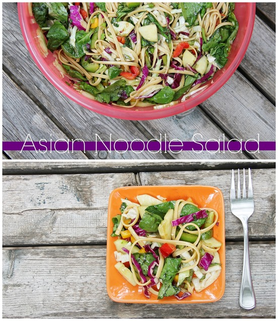 Asian Noodle Salad collage