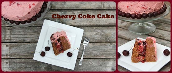 Collage Cherry Coke Cake