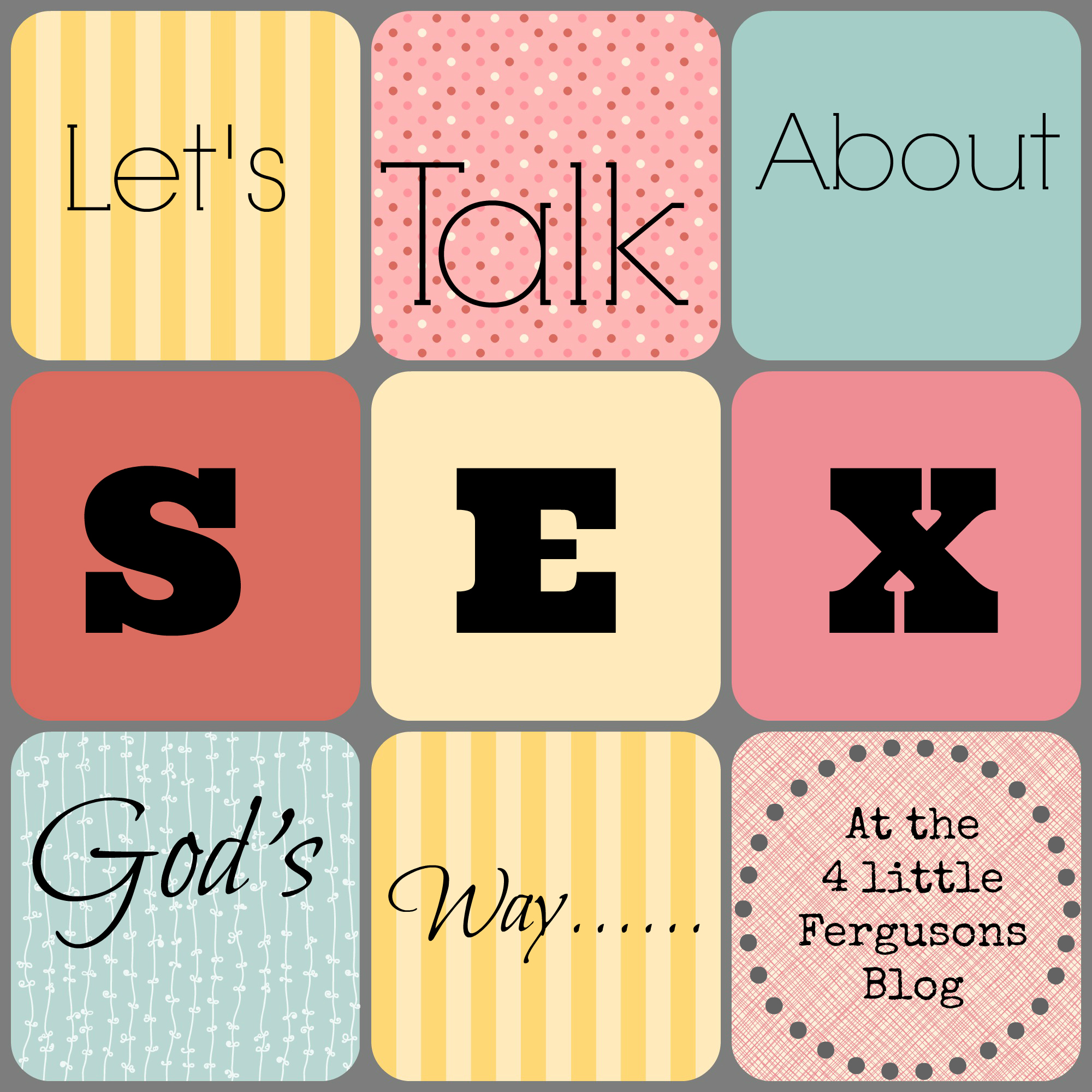 lets talk about sex essay Why sex education also belongs in the home: parents must talk about sex those who are uncomfortable hearing or speaking sexual words can practice them—alone.