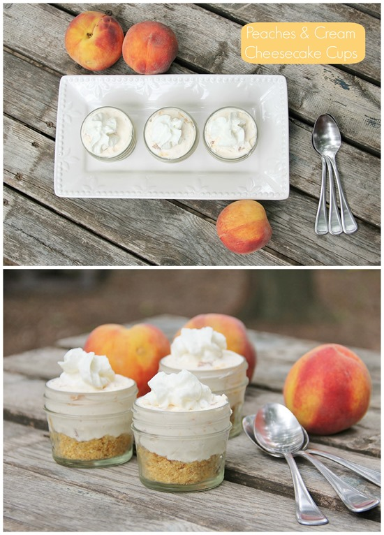 Peaches & Cream Cheesecake Cups: As delicious as they are ADORABLE!