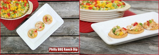 Philly BBQ Ranch Dip collage
