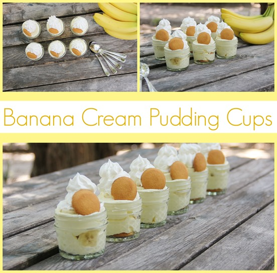 Banana Cream Pudding cups