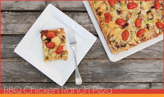 BBQ Chicken Ranch Pizza