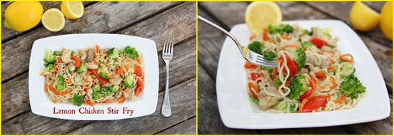 Lemon Chicken Stir Fry collage