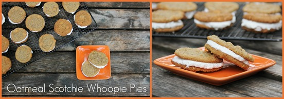 Oatmeal Scotchie Whoopie Pie Collage