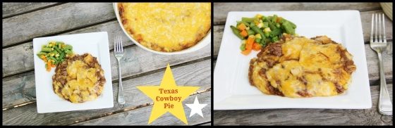 texas cowboy pie collage
