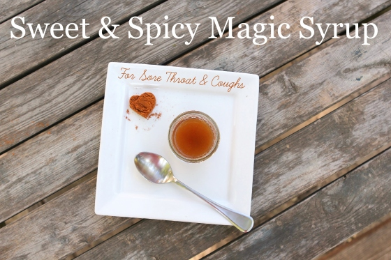 sweet & spicy magic syrup for coughs & sore throats