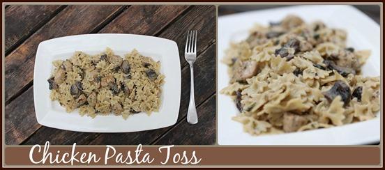 Chicken Pasta Toss Collage