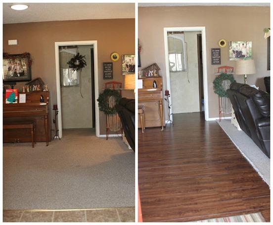 Front door before & after