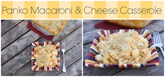 Panko Mac & Cheese Casserole